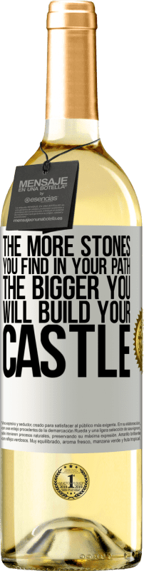 24,95 € Free Shipping | White Wine WHITE Edition The more stones you find in your path, the bigger you will build your castle White Label. Customizable label Young wine Harvest 2020 Verdejo