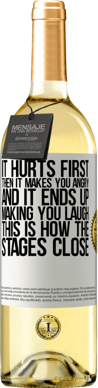 24,95 € Free Shipping   White Wine WHITE Edition It hurts first, then it makes you angry, and it ends up making you laugh. This is how the stages close White Label. Customizable label Young wine Harvest 2020 Verdejo