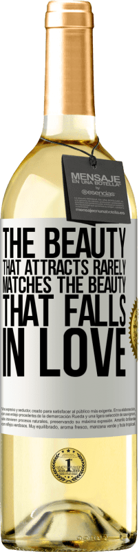 24,95 € Free Shipping   White Wine WHITE Edition The beauty that attracts rarely matches the beauty that falls in love White Label. Customizable label Young wine Harvest 2020 Verdejo