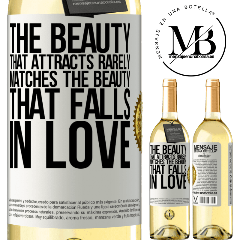 24,95 € Free Shipping | White Wine WHITE Edition The beauty that attracts rarely matches the beauty that falls in love White Label. Customizable label Young wine Harvest 2020 Verdejo