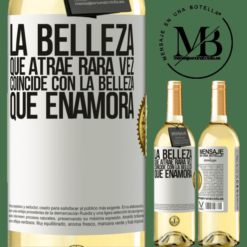 24,95 € Envoi gratuit | Vin blanc Édition WHITE La beauté qui attire correspond rarement à la beauté qui tombe amoureuse Étiquette Blanche. Étiquette personnalisable Vin jeune Récolte 2020 Verdejo