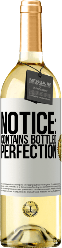 24,95 € Free Shipping   White Wine WHITE Edition Notice: contains bottled perfection White Label. Customizable label Young wine Harvest 2020 Verdejo