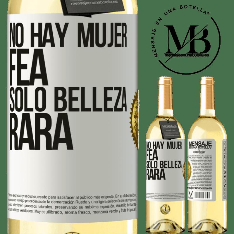 24,95 € Envío gratis   Vino Blanco Edición WHITE No hay mujer fea, solo belleza rara Etiqueta Blanca. Etiqueta personalizable Vino joven Cosecha 2020 Verdejo