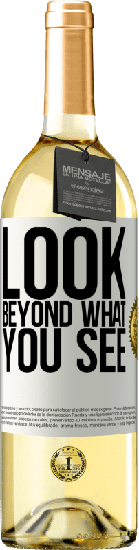 24,95 € Free Shipping   White Wine WHITE Edition Look beyond what you see White Label. Customizable label Young wine Harvest 2020 Verdejo