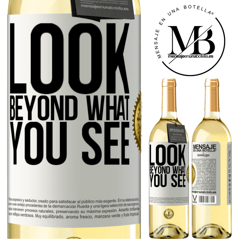 24,95 € Free Shipping | White Wine WHITE Edition Look beyond what you see White Label. Customizable label Young wine Harvest 2020 Verdejo
