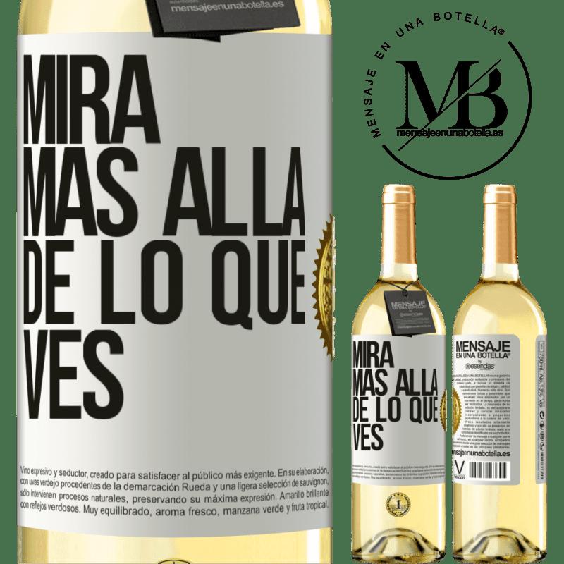 24,95 € Envío gratis | Vino Blanco Edición WHITE Mira más allá de lo que ves Etiqueta Blanca. Etiqueta personalizable Vino joven Cosecha 2020 Verdejo