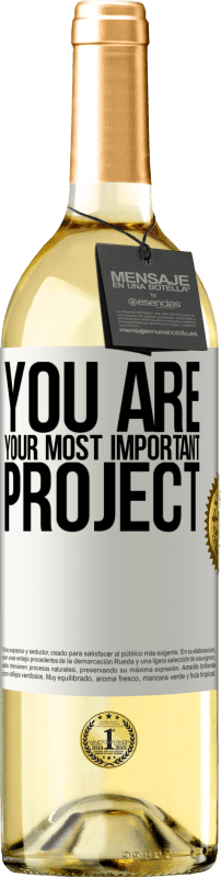 24,95 € Free Shipping | White Wine WHITE Edition You are your most important project White Label. Customizable label Young wine Harvest 2020 Verdejo