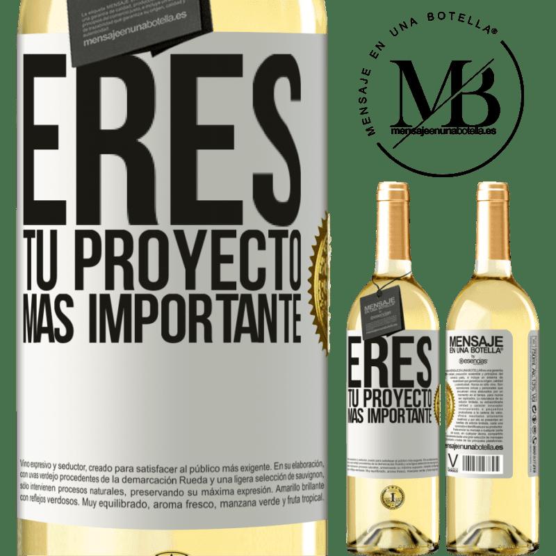 24,95 € Envoi gratuit | Vin blanc Édition WHITE Vous êtes votre projet le plus important Étiquette Blanche. Étiquette personnalisable Vin jeune Récolte 2020 Verdejo