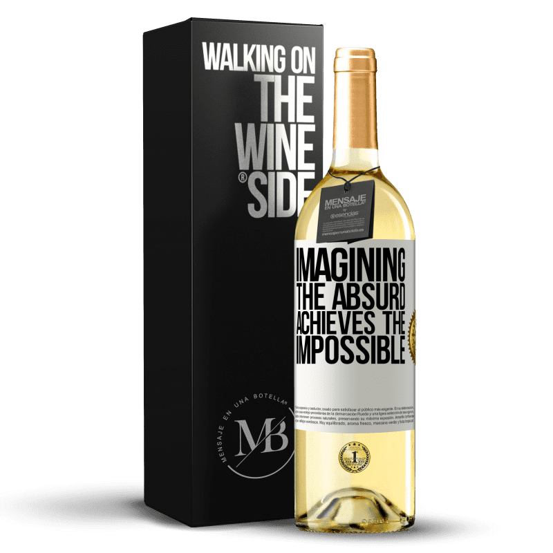 24,95 € Free Shipping   White Wine WHITE Edition Imagining the absurd achieves the impossible White Label. Customizable label Young wine Harvest 2020 Verdejo