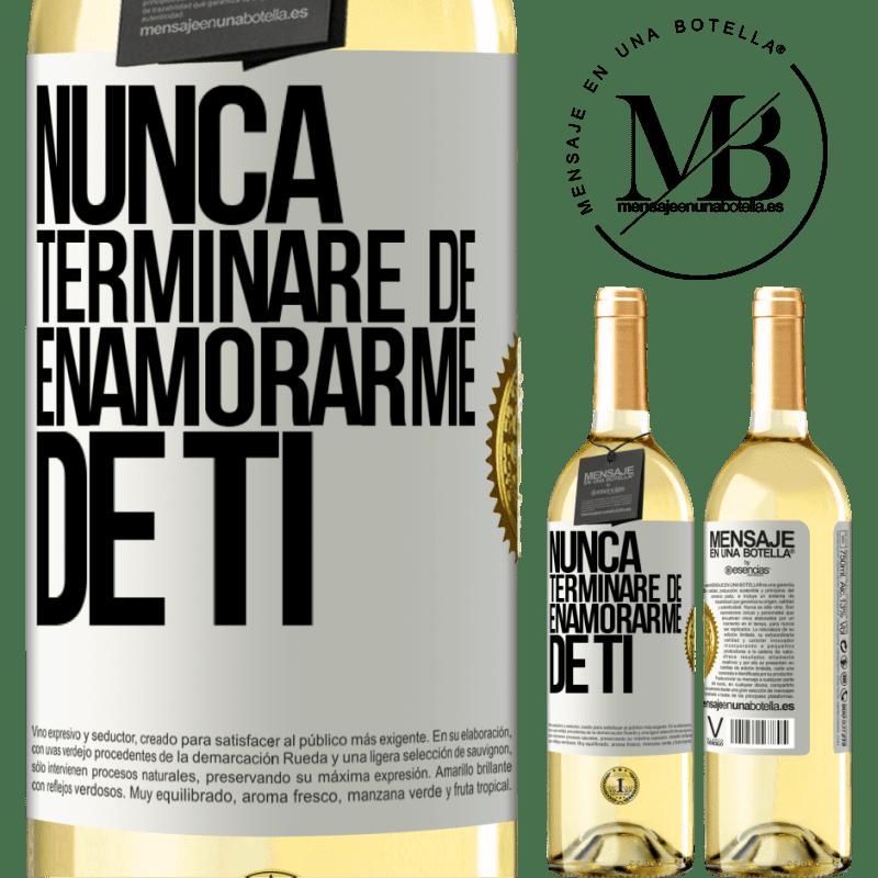 24,95 € Envoi gratuit | Vin blanc Édition WHITE Je ne cesserai jamais de tomber amoureux de toi Étiquette Blanche. Étiquette personnalisable Vin jeune Récolte 2020 Verdejo