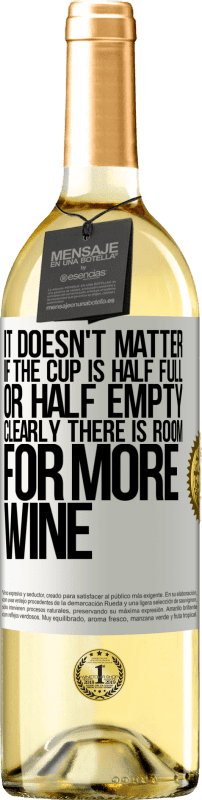 24,95 € Free Shipping   White Wine WHITE Edition It doesn't matter if the cup is half full or half empty. Clearly there is room for more wine White Label. Customizable label Young wine Harvest 2020 Verdejo