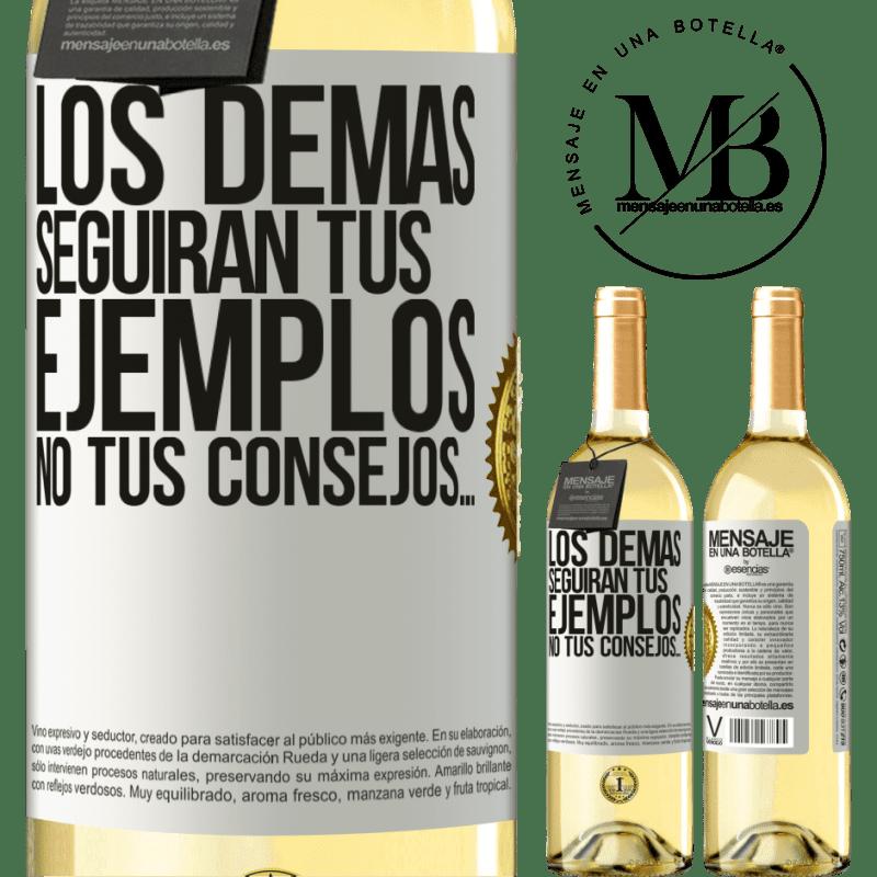 24,95 € Envío gratis   Vino Blanco Edición WHITE Los demás seguirán tus ejemplos, no tus consejos… Etiqueta Blanca. Etiqueta personalizable Vino joven Cosecha 2020 Verdejo