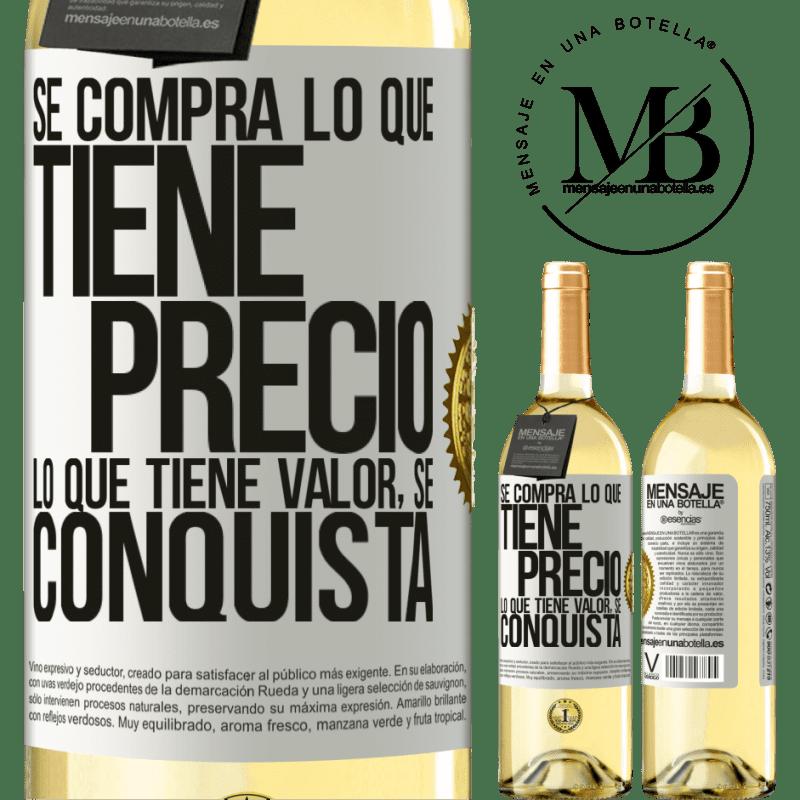 24,95 € Envoi gratuit | Vin blanc Édition WHITE Vous achetez ce qui a un prix. Ce qui a de la valeur est conquis Étiquette Blanche. Étiquette personnalisable Vin jeune Récolte 2020 Verdejo