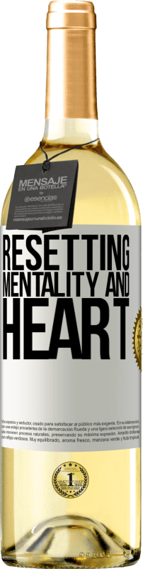 24,95 € Free Shipping | White Wine WHITE Edition Resetting mentality and heart White Label. Customizable label Young wine Harvest 2020 Verdejo