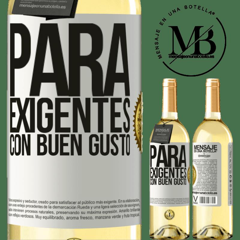 24,95 € Envío gratis | Vino Blanco Edición WHITE Para exigentes con buen gusto Etiqueta Blanca. Etiqueta personalizable Vino joven Cosecha 2020 Verdejo