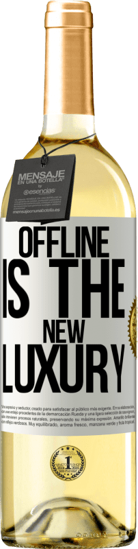 24,95 € Free Shipping | White Wine WHITE Edition Offline is the new luxury White Label. Customizable label Young wine Harvest 2020 Verdejo