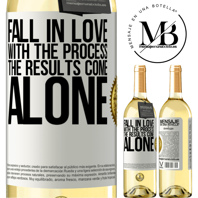 24,95 € Free Shipping | White Wine WHITE Edition Fall in love with the process, the results come alone White Label. Customizable label Young wine Harvest 2020 Verdejo