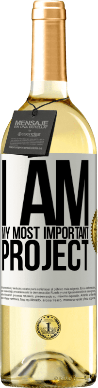 24,95 € Free Shipping | White Wine WHITE Edition I am my most important project White Label. Customizable label Young wine Harvest 2020 Verdejo