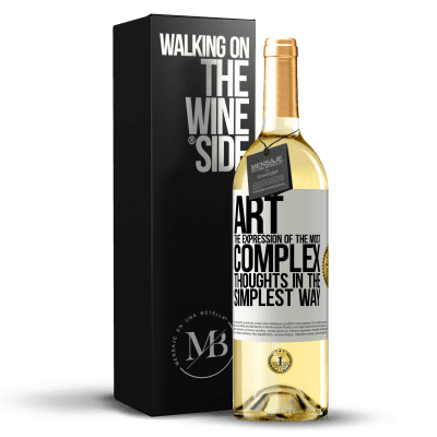«ART. The expression of the most complex thoughts in the simplest way» WHITE Edition