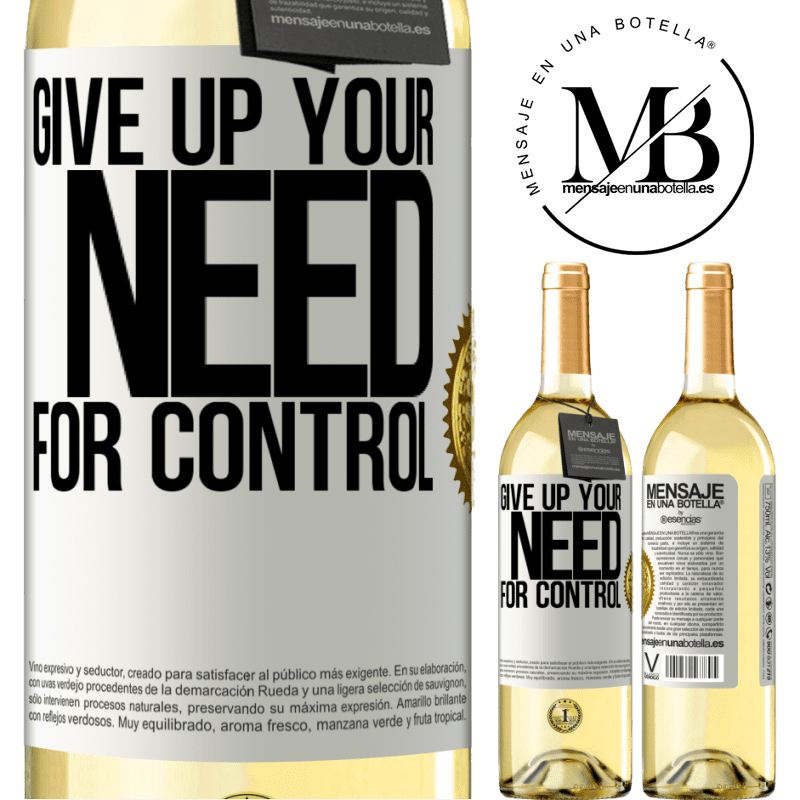 24,95 € Free Shipping | White Wine WHITE Edition Give up your need for control White Label. Customizable label Young wine Harvest 2020 Verdejo