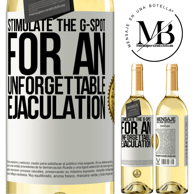 24,95 € Free Shipping | White Wine WHITE Edition Stimulate the G-spot for an unforgettable ejaculation White Label. Customizable label Young wine Harvest 2020 Verdejo