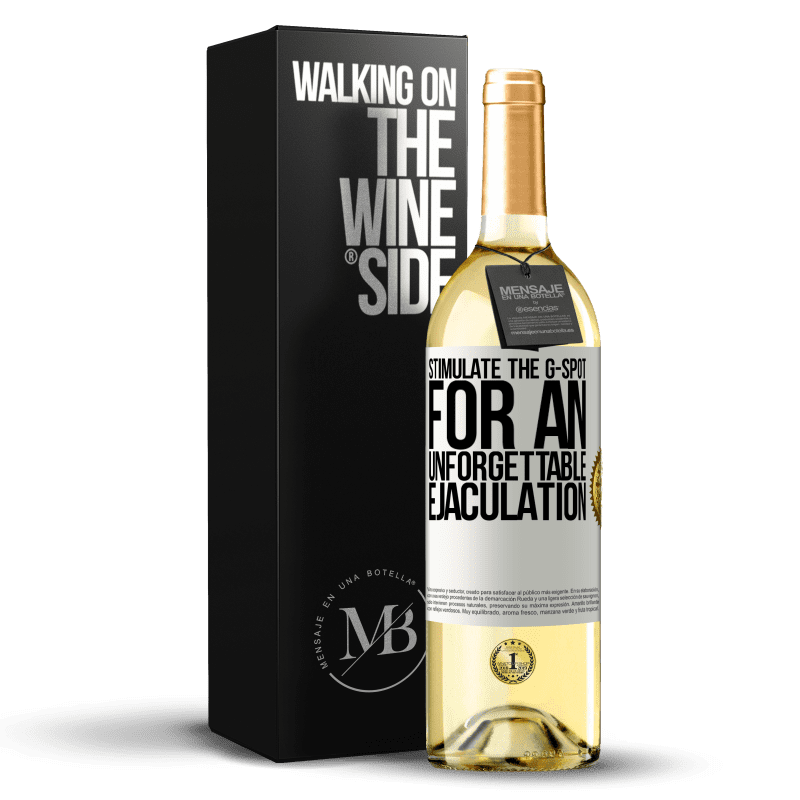 24,95 € Free Shipping   White Wine WHITE Edition Stimulate the G-spot for an unforgettable ejaculation White Label. Customizable label Young wine Harvest 2020 Verdejo