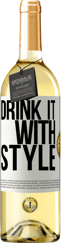 24,95 € Free Shipping | White Wine WHITE Edition Drink it with style White Label. Customizable label Young wine Harvest 2020 Verdejo