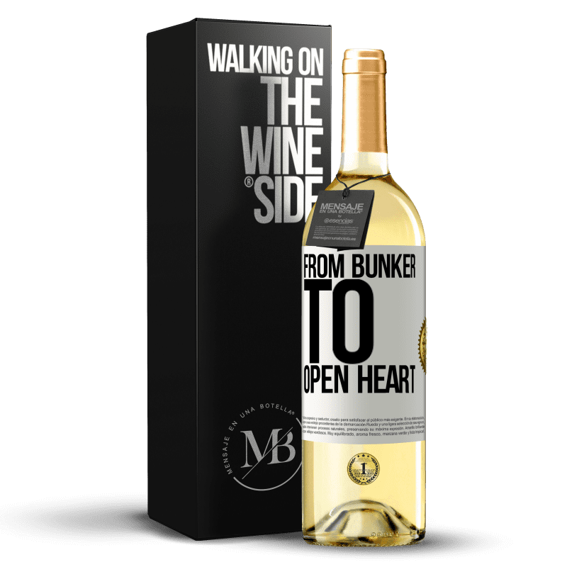 24,95 € Free Shipping   White Wine WHITE Edition From bunker to open heart White Label. Customizable label Young wine Harvest 2020 Verdejo