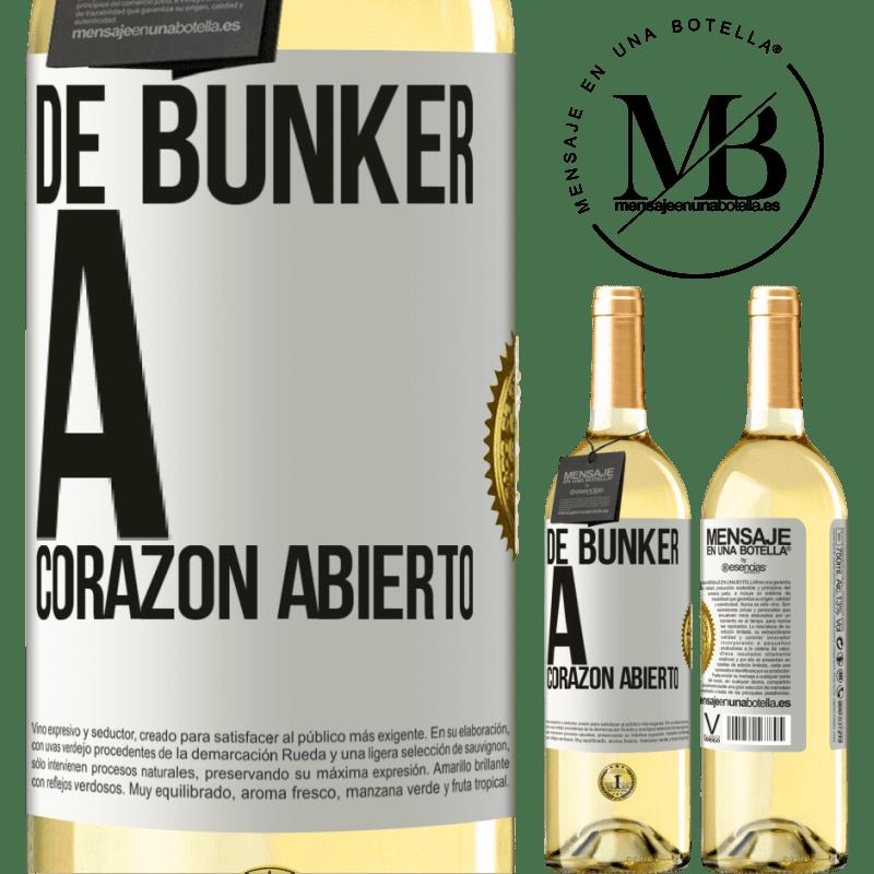 24,95 € Envío gratis | Vino Blanco Edición WHITE De búnker a corazon abierto Etiqueta Blanca. Etiqueta personalizable Vino joven Cosecha 2020 Verdejo