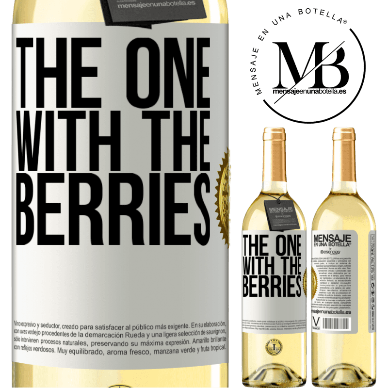 24,95 € Free Shipping | White Wine WHITE Edition The one with the berries White Label. Customizable label Young wine Harvest 2020 Verdejo