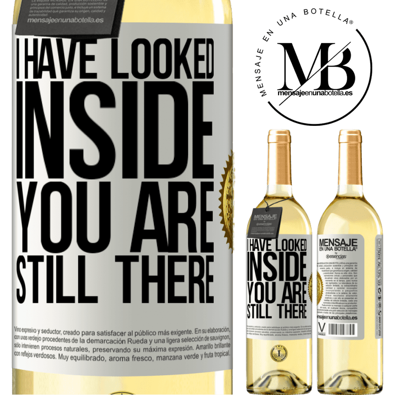 24,95 € Free Shipping | White Wine WHITE Edition I have looked inside. You still there White Label. Customizable label Young wine Harvest 2020 Verdejo
