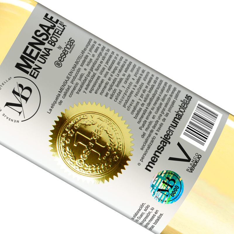 Limited Edition. «You can't buy happiness, but you can buy wine and that's almost the same» WHITE Edition