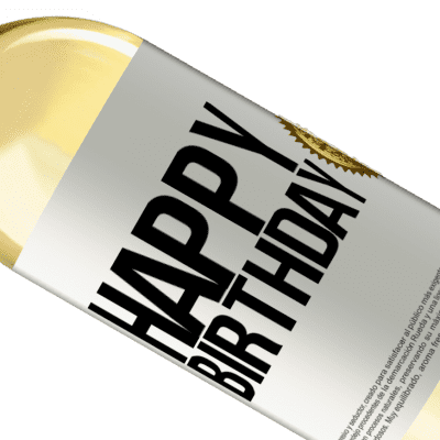 Unique & Personal Expressions. «Happy birthday» WHITE Edition