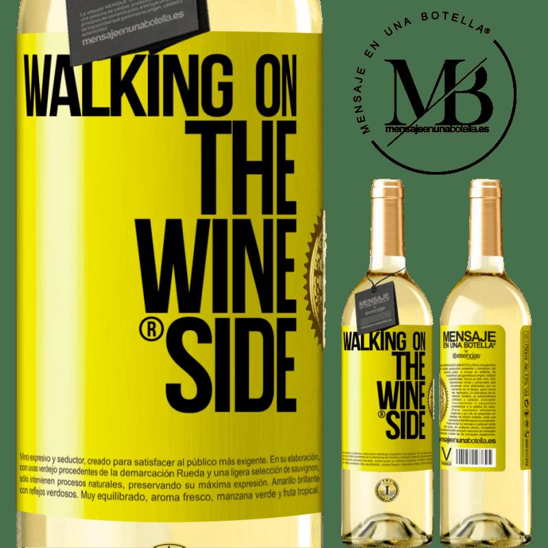 24,95 € Envoi gratuit | Vin blanc Édition WHITE Walking on the Wine Side® Étiquette Jaune. Étiquette personnalisable Vin jeune Récolte 2020 Verdejo