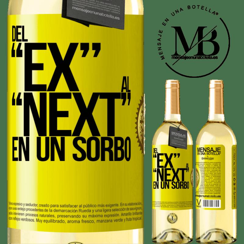 24,95 € Free Shipping | White Wine WHITE Edition Del EX al NEXT en un sorbo Yellow Label. Customizable label Young wine Harvest 2020 Verdejo