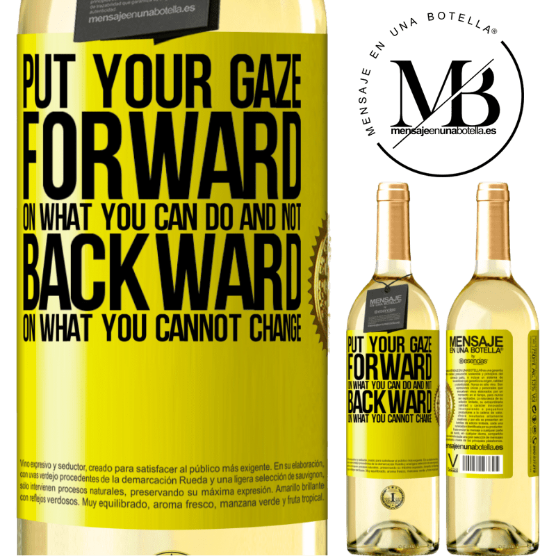 24,95 € Free Shipping   White Wine WHITE Edition Put your gaze forward, on what you can do and not backward, on what you cannot change Yellow Label. Customizable label Young wine Harvest 2020 Verdejo