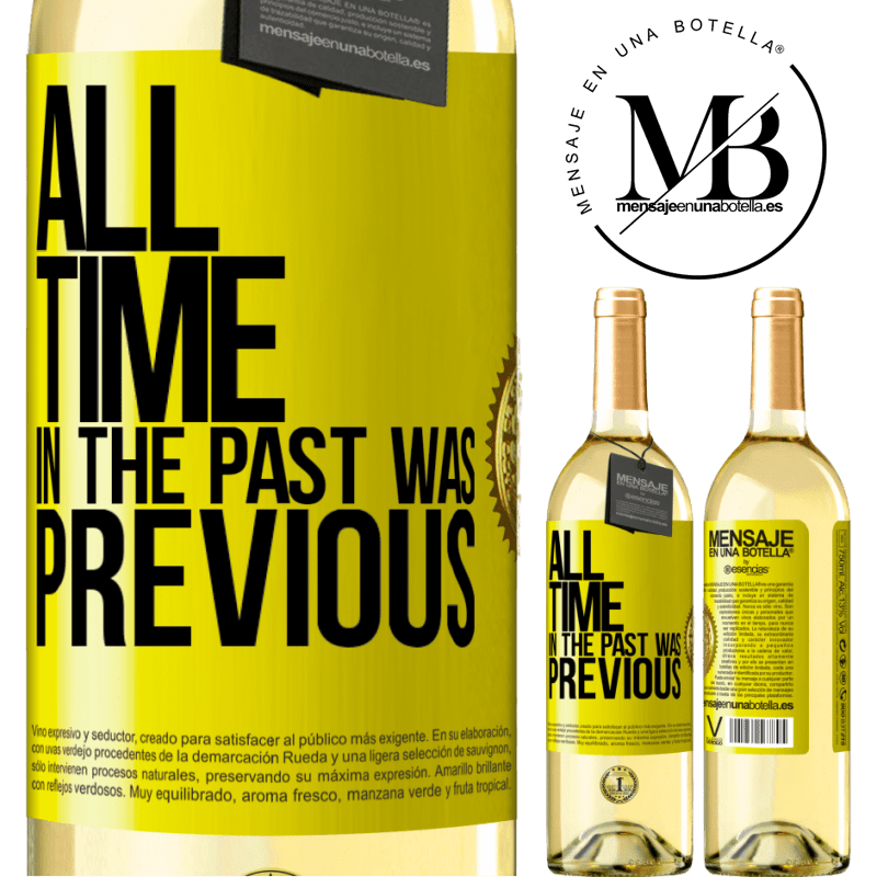 24,95 € Free Shipping | White Wine WHITE Edition All time in the past, was previous Yellow Label. Customizable label Young wine Harvest 2020 Verdejo