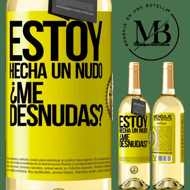 24,95 € Envío gratis   Vino Blanco Edición WHITE Estoy hecha un nudo. ¿Me desnudas? Etiqueta Amarilla. Etiqueta personalizable Vino joven Cosecha 2020 Verdejo