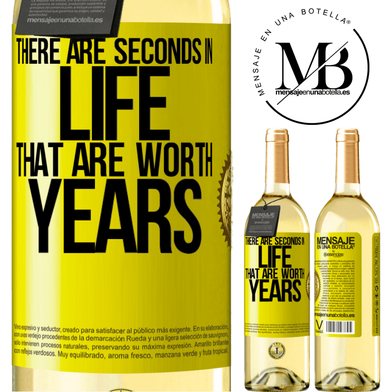 24,95 € Free Shipping   White Wine WHITE Edition There are seconds in life that are worth years Yellow Label. Customizable label Young wine Harvest 2020 Verdejo