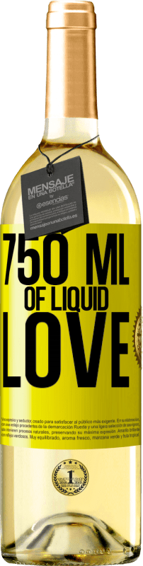 24,95 € Free Shipping | White Wine WHITE Edition 750 ml of liquid love Yellow Label. Customizable label Young wine Harvest 2020 Verdejo