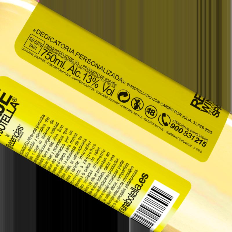 Total traceability. «750 ml of liquid love» WHITE Edition