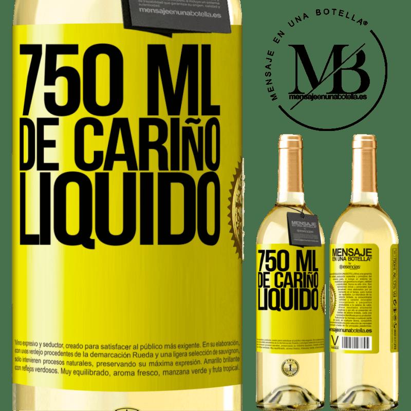 24,95 € Envoi gratuit | Vin blanc Édition WHITE 750 ml d'amour liquide Étiquette Jaune. Étiquette personnalisable Vin jeune Récolte 2020 Verdejo