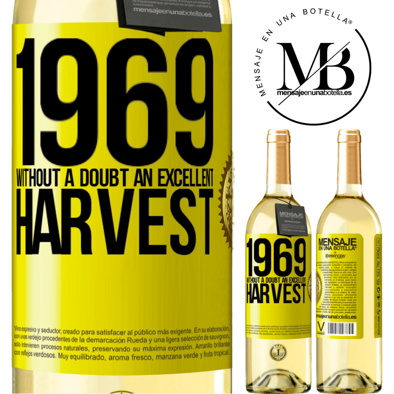 24,95 € Free Shipping   White Wine WHITE Edition 1969. Without a doubt, an excellent harvest Yellow Label. Customizable label Young wine Harvest 2020 Verdejo