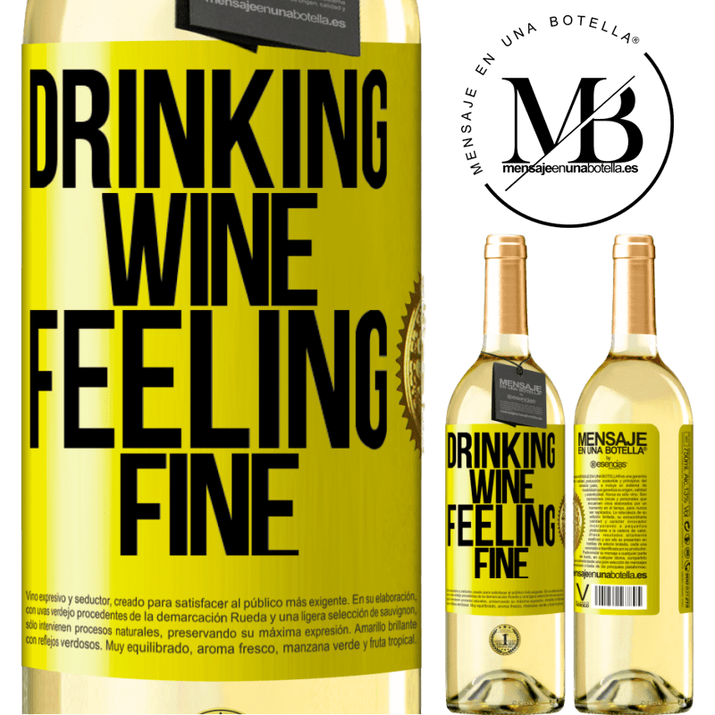24,95 € Free Shipping | White Wine WHITE Edition Drinking wine, feeling fine Yellow Label. Customizable label Young wine Harvest 2020 Verdejo