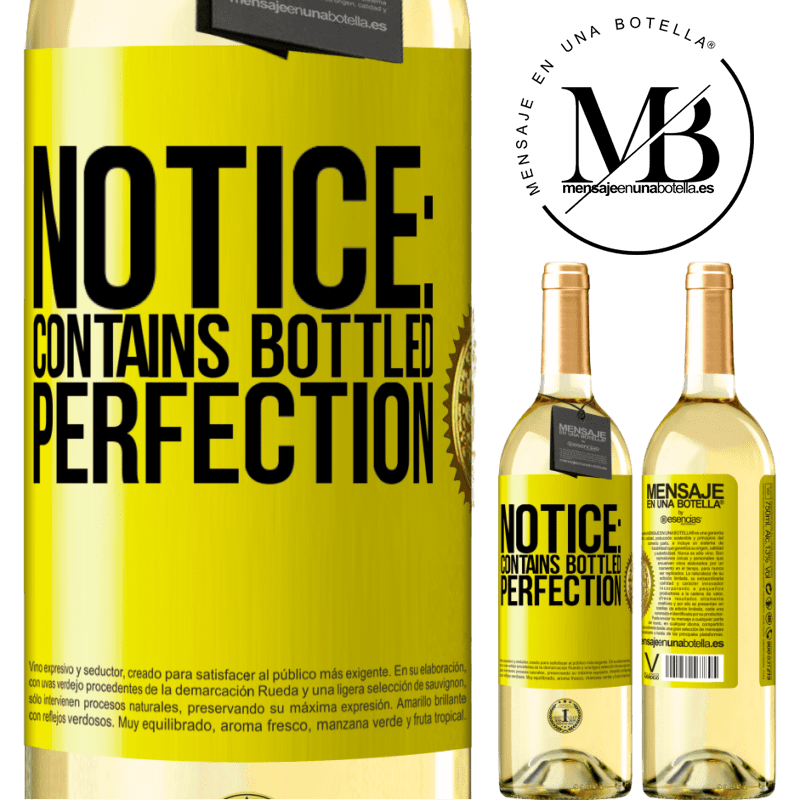 24,95 € Free Shipping   White Wine WHITE Edition Notice: contains bottled perfection Yellow Label. Customizable label Young wine Harvest 2020 Verdejo