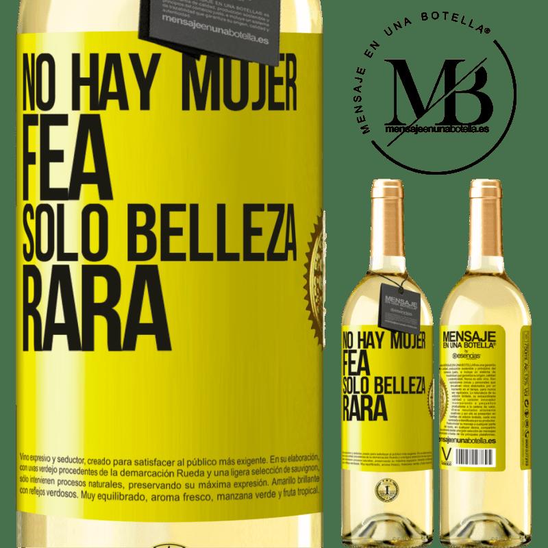 24,95 € Envío gratis   Vino Blanco Edición WHITE No hay mujer fea, solo belleza rara Etiqueta Amarilla. Etiqueta personalizable Vino joven Cosecha 2020 Verdejo