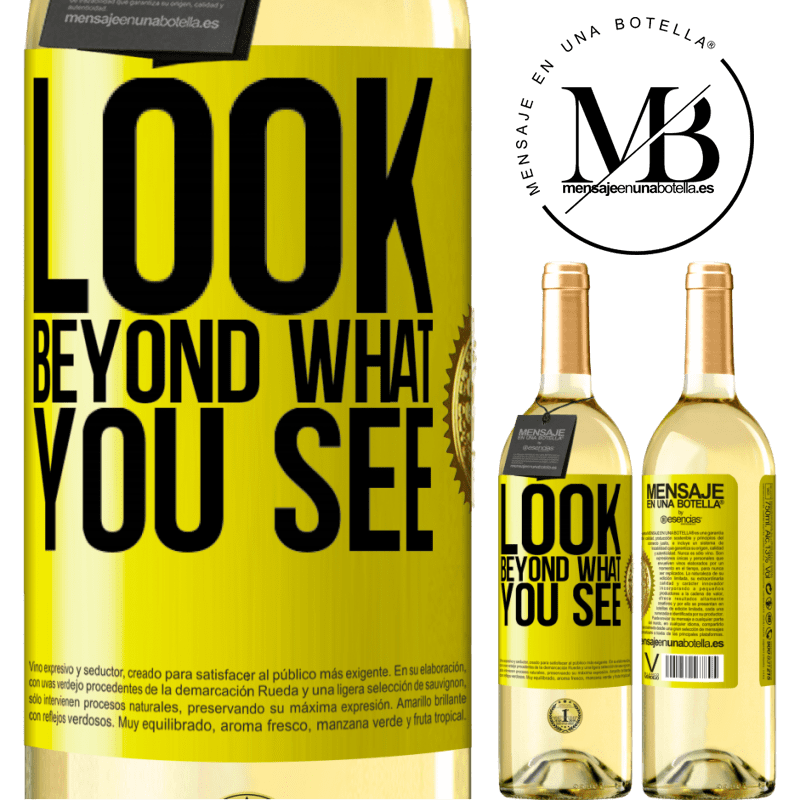 24,95 € Free Shipping | White Wine WHITE Edition Look beyond what you see Yellow Label. Customizable label Young wine Harvest 2020 Verdejo