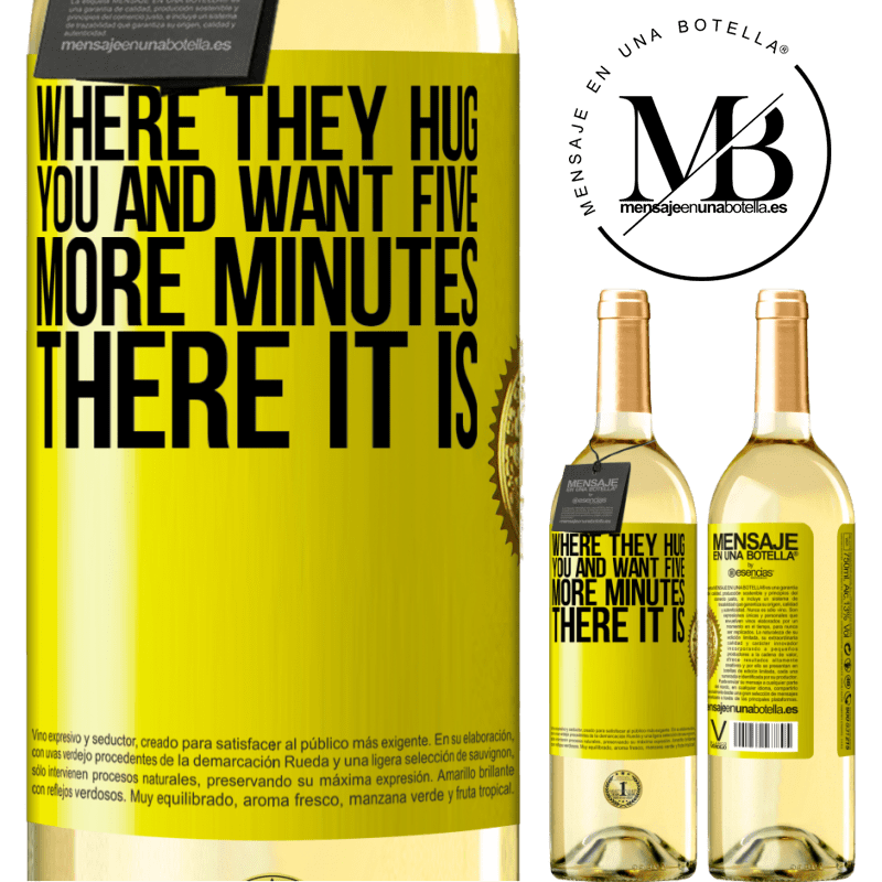 24,95 € Free Shipping | White Wine WHITE Edition Where they hug you and want five more minutes, there it is Yellow Label. Customizable label Young wine Harvest 2020 Verdejo