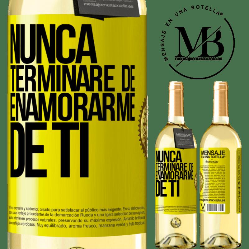 24,95 € Envoi gratuit | Vin blanc Édition WHITE Je ne cesserai jamais de tomber amoureux de toi Étiquette Jaune. Étiquette personnalisable Vin jeune Récolte 2020 Verdejo