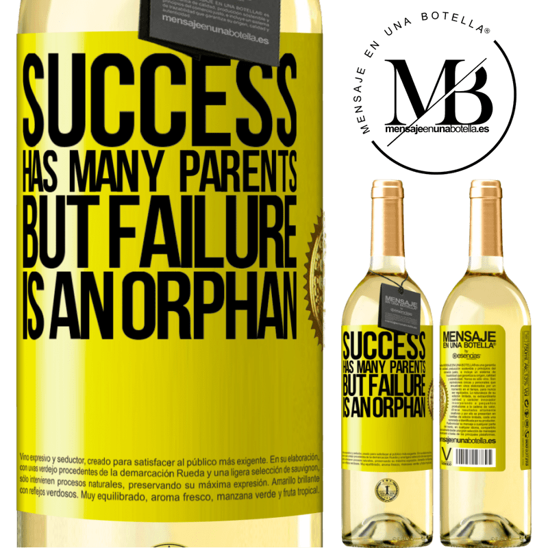 24,95 € Free Shipping   White Wine WHITE Edition Success has many parents, but failure is an orphan Yellow Label. Customizable label Young wine Harvest 2020 Verdejo
